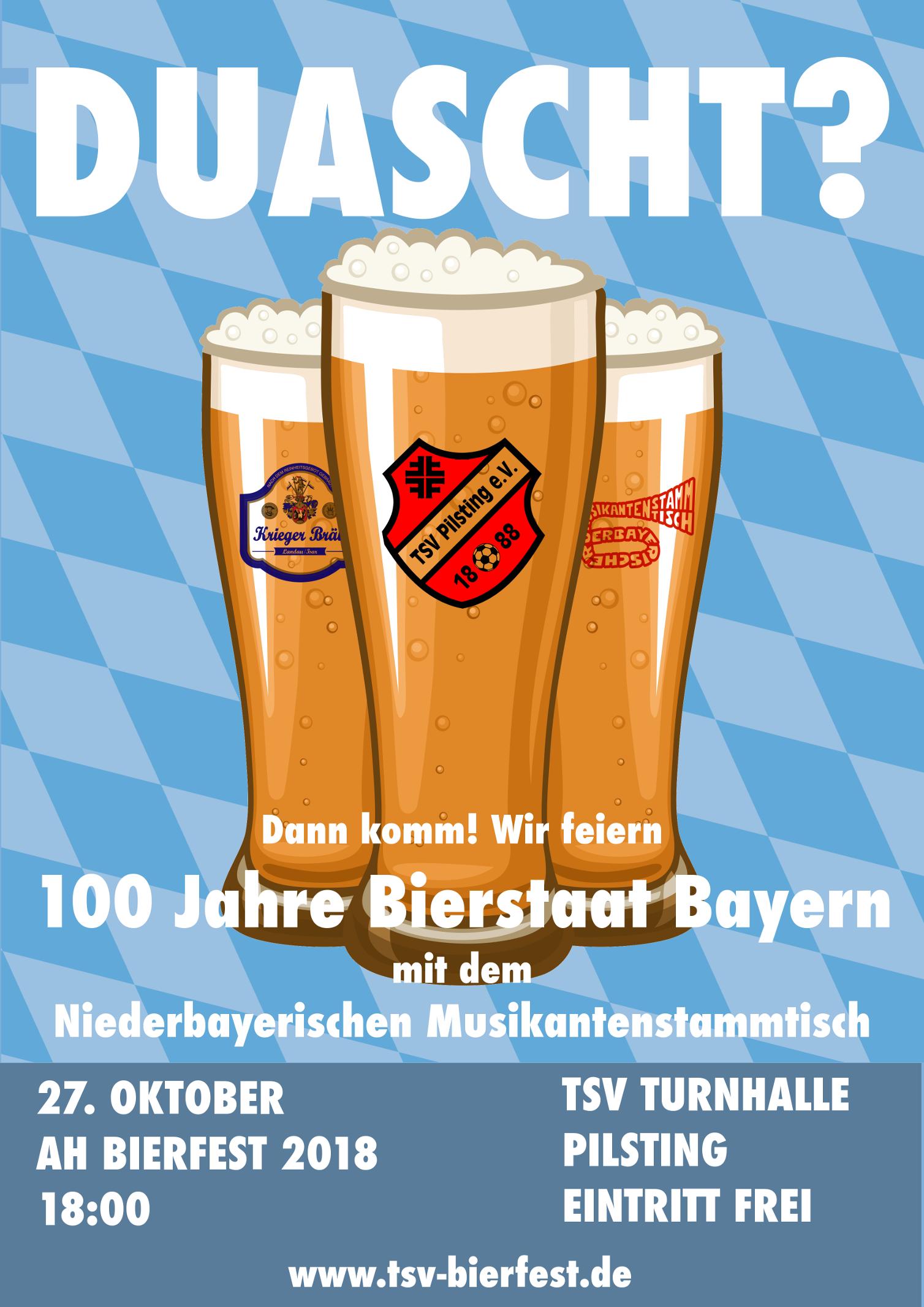 AH Bierfest 2018 mit dem Niederbayerischen Musikantenstammtisch