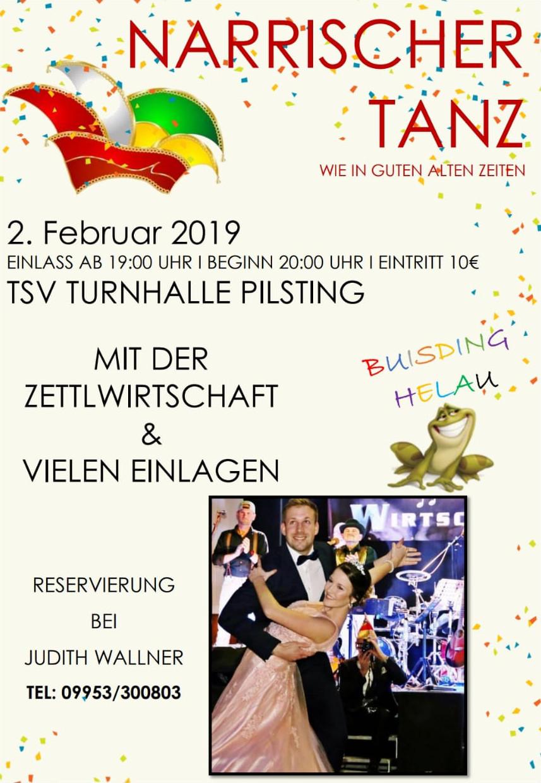 Närrischer Tanz 2019 Pilsting 2. Februar